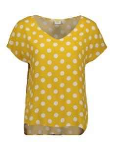 Jacqueline de Yong T-shirt JDYSTAR S/S V-NECK TOP WVN FS 15171522 Spicy Mustard