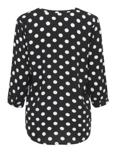 jdystar 3/4 placket top wvn1 fs 15171537 jacqueline de yong blouse black/ cloud dancer