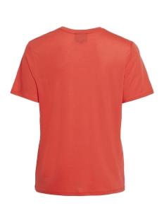 objamour s/s top 103 23029815 object t-shirt poppy red