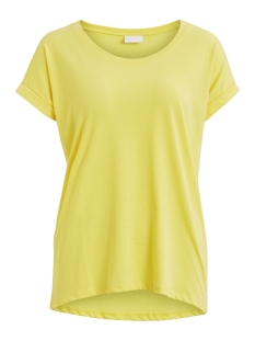 Vila T-shirt VIDREAMERS PURE T-SHIRT-FAV 14043506 Goldfinch