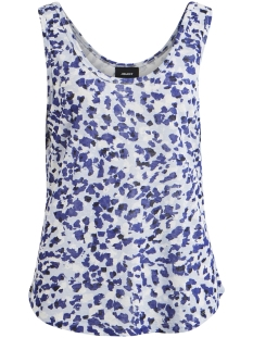 Object Top OBJTESSI SLUB TANK TOP AOP SEASONAL 23029731 Clematis Blue/CLARKE AOP