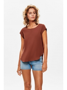 Only T-shirt ONLVIC S/S SOLID TOP NOOS WVN 15142784 Henna