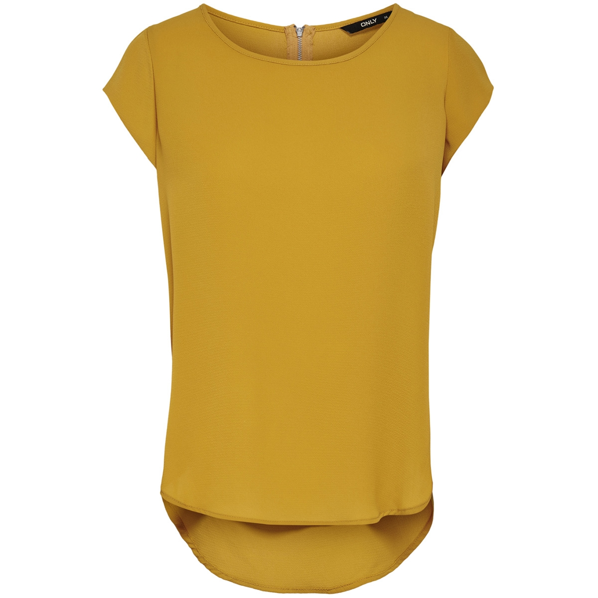onlvic s/s solid top noos wvn 15142784 only t-shirt golden yellow