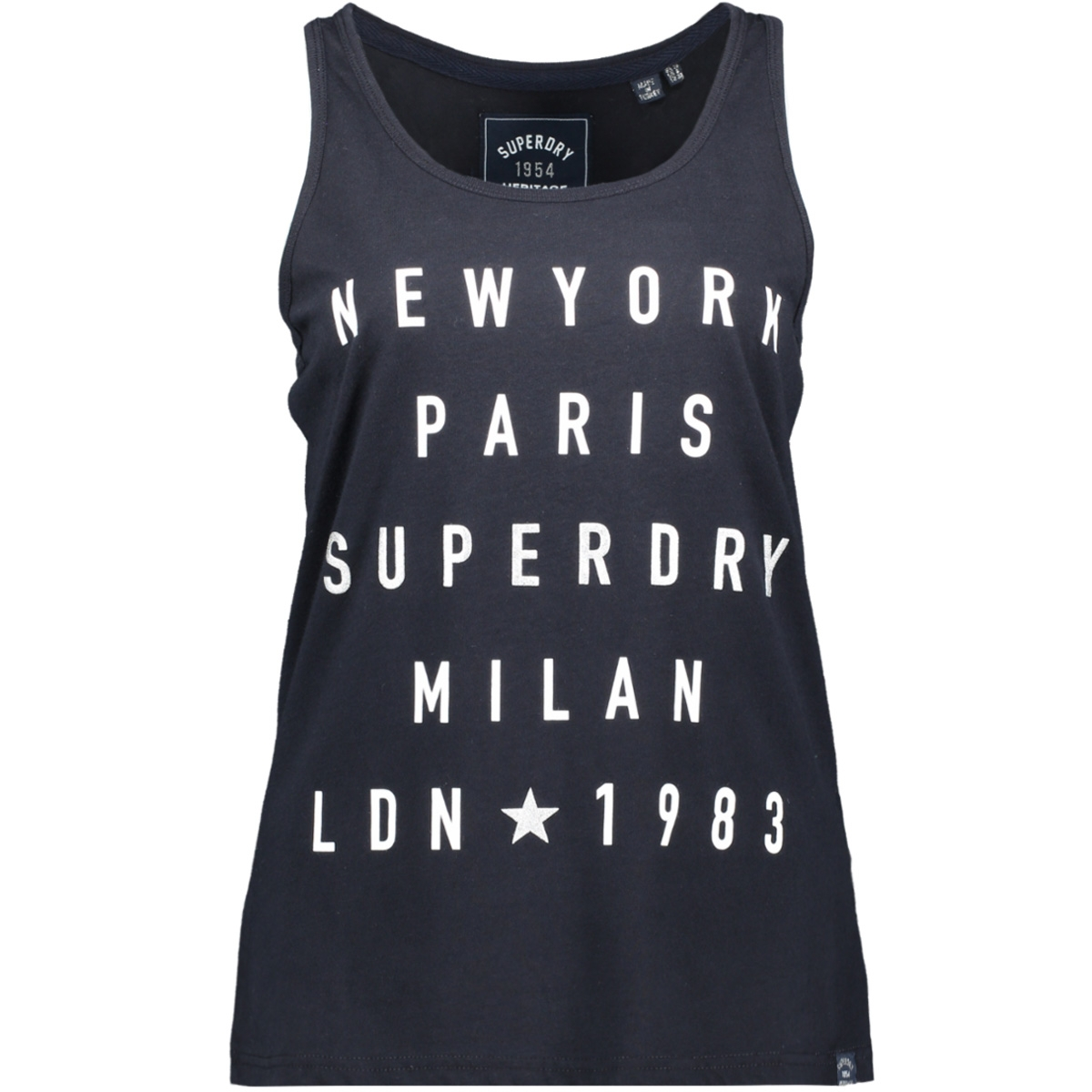 city letters foil vest g60510st superdry top eclipse navy