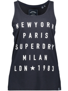 Superdry Top CITY LETTERS FOIL VEST G60510ST ECLIPSE NAVY