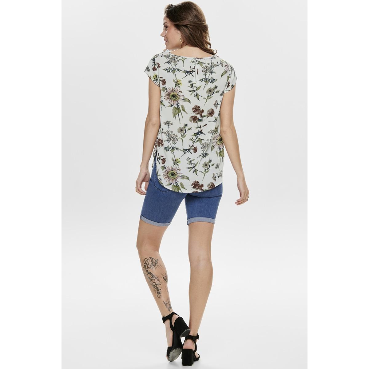 onlvic ss aop top noos wvn 15161116 only t-shirt cloud dancer/botanical