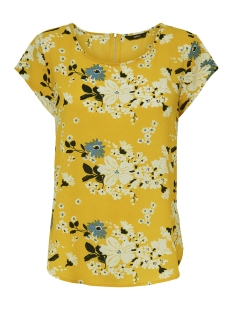 Only T-shirt ONLVIC SS AOP TOP NOOS WVN 15161116 Vibrant Yellow/ MIE FLOWER