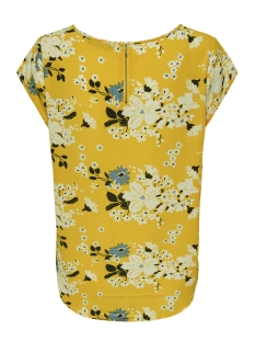 onlvic ss aop top noos wvn 15161116 only t-shirt vibrant yellow/ mie flower