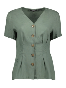 vmcandice s/s midi button shirt wvn 10213485 vero moda blouse laurel wreath