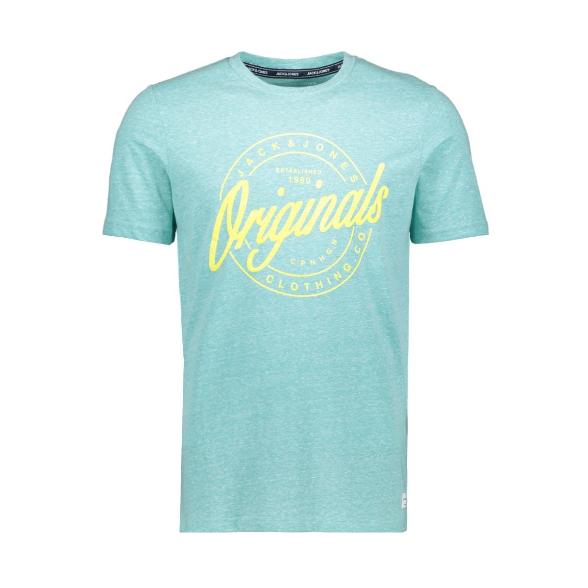 jorhazy tee ss crew neck 12152608 jack & jones t-shirt aqua sky