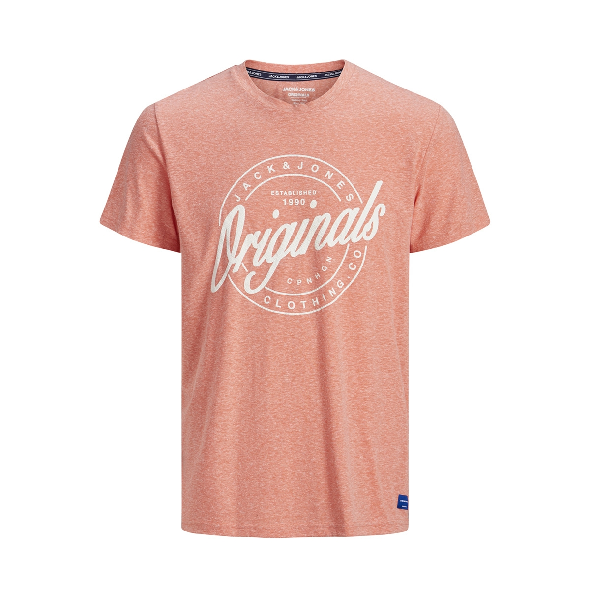 jorhazy tee ss crew neck 12152608 jack & jones t-shirt persimmon