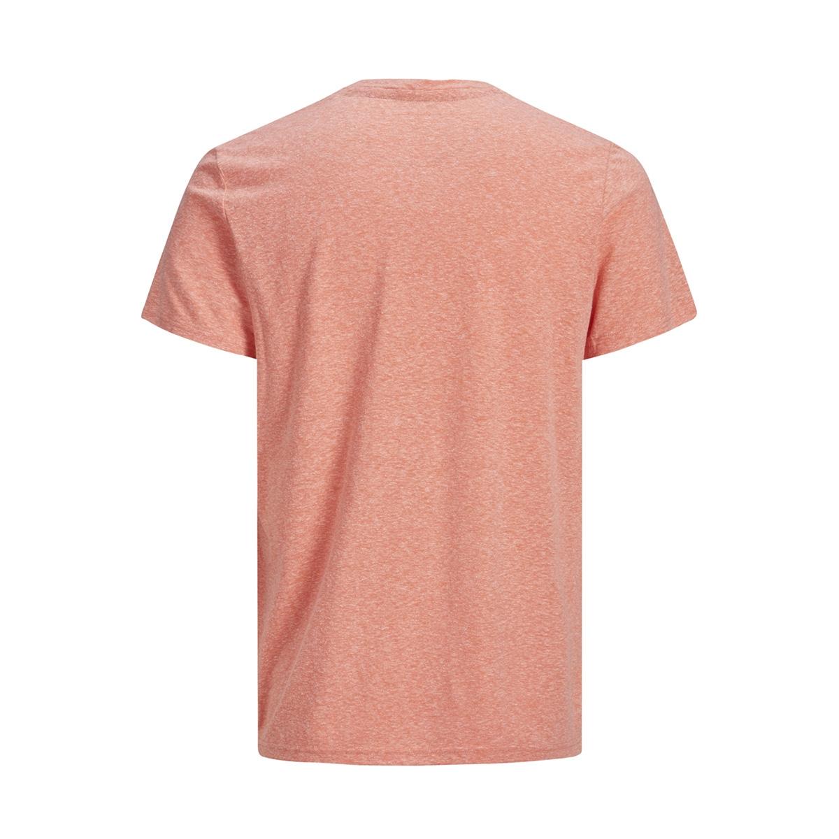 jorhazy tee ss crew neck 12152608 jack & jones t-shirt persimmon