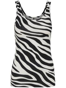 onllive love  printed tank top jrs 15170352 only top cloud dancer/zebra