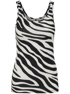 Only Top ONLLIVE LOVE  PRINTED TANK TOP JRS 15170352 Cloud Dancer/zebra