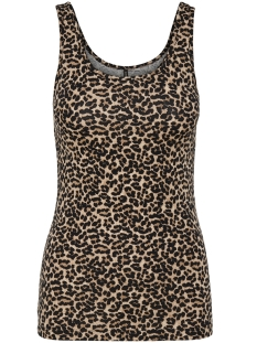onllive love  printed tank top jrs 15170352 only top pumice stone/naturel leo