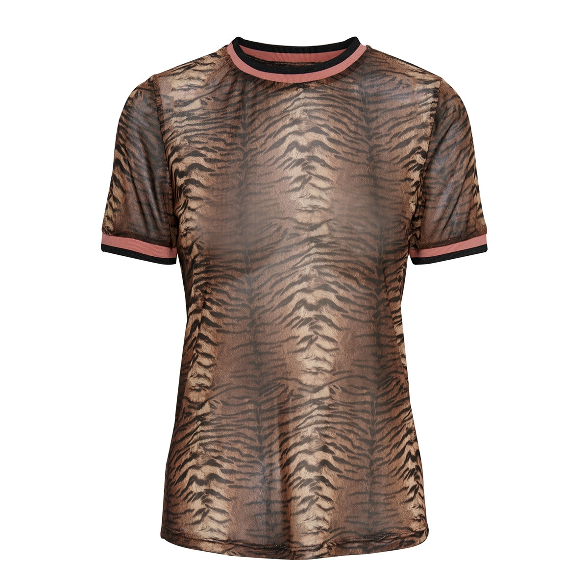 onlvera s/s top jrs 15187955 only t-shirt black/tiger