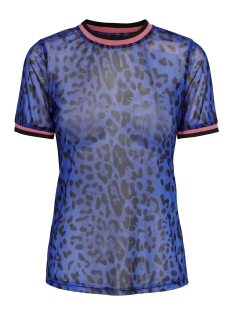 onlvera s/s top jrs 15187955 only t-shirt dazzling blue/leo