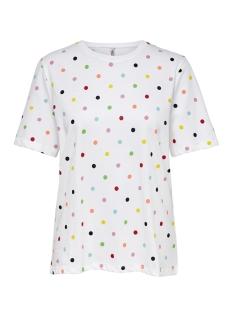 onldotti boxy s/s neon box co jrs 15179456 only t-shirt bright white/dots