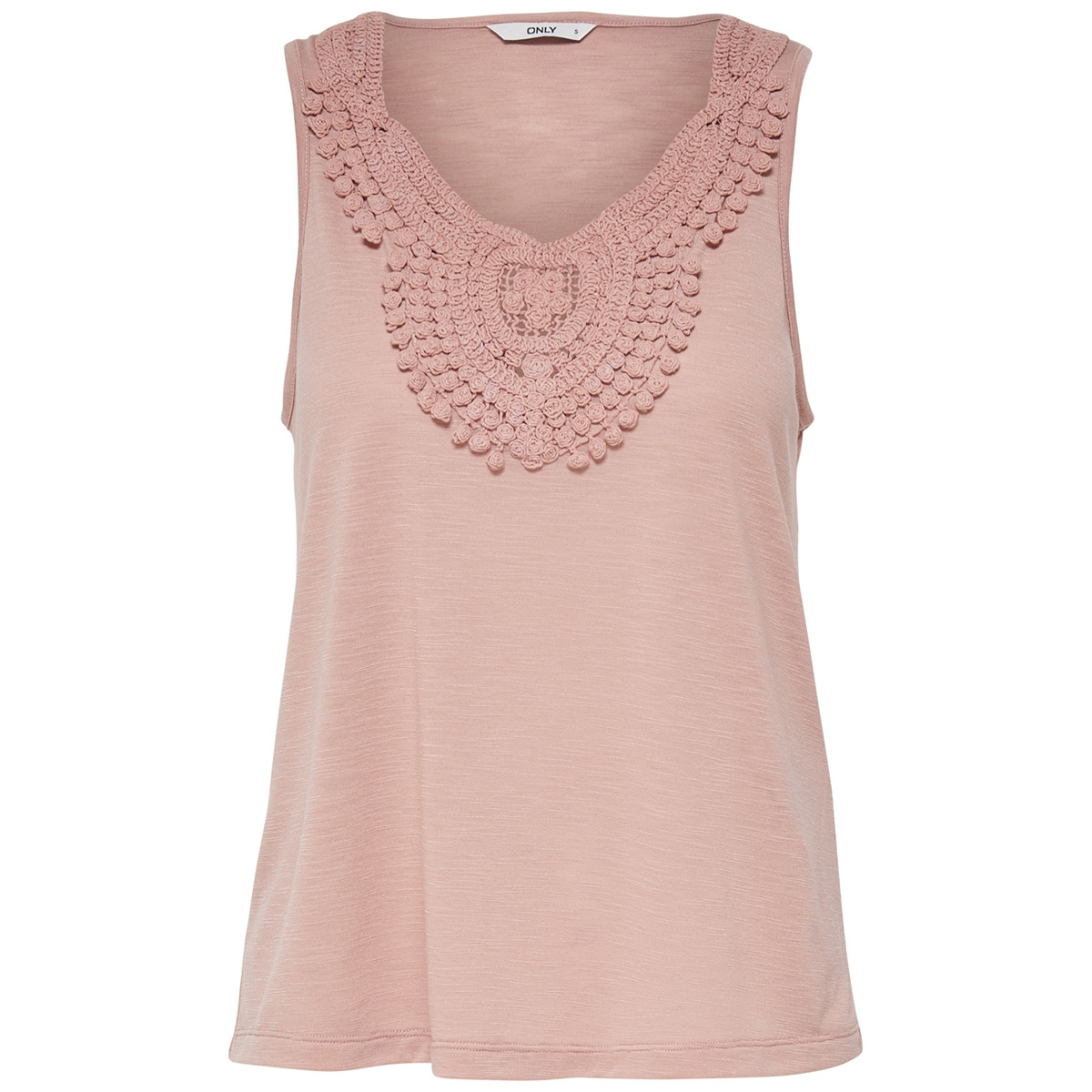 onlisa s/l crochet tank top jrs 15157559 only top misty rose