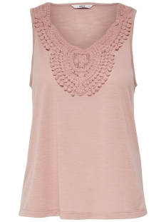 Only Top ONLISA S/L CROCHET TANK TOP JRS 15157559 Misty Rose