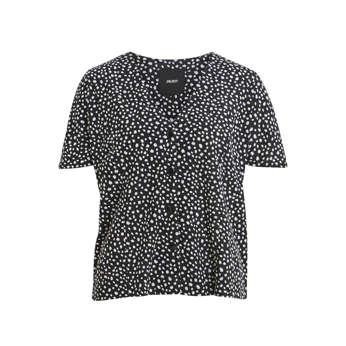 objsimona s/s top 103 23029531 object t-shirt black