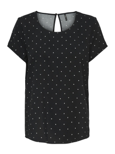 Only T-shirt ONLFIRST SS MIX AOP TOP  NOOS WVN 15138761 Black/MINI DOTS