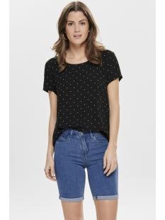onlfirst ss mix aop top  noos wvn 15138761 only t-shirt black/mini dots