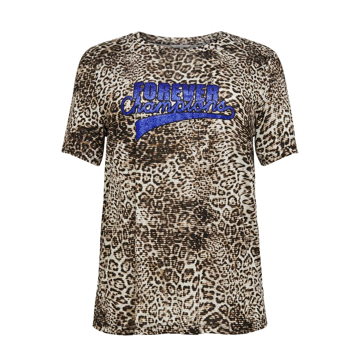 cardonna ss tee 15176978 only carmakoma t-shirt black/leo