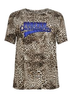 Only Carmakoma T-shirt CARDONNA SS TEE 15176978 Black/LEO