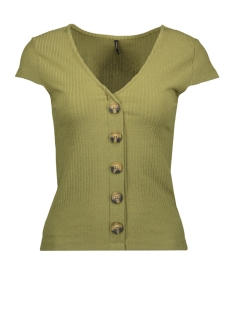 Only T-shirt ONLNELLA S/S BUTTON TOP JRS 15181030 Martini Olive