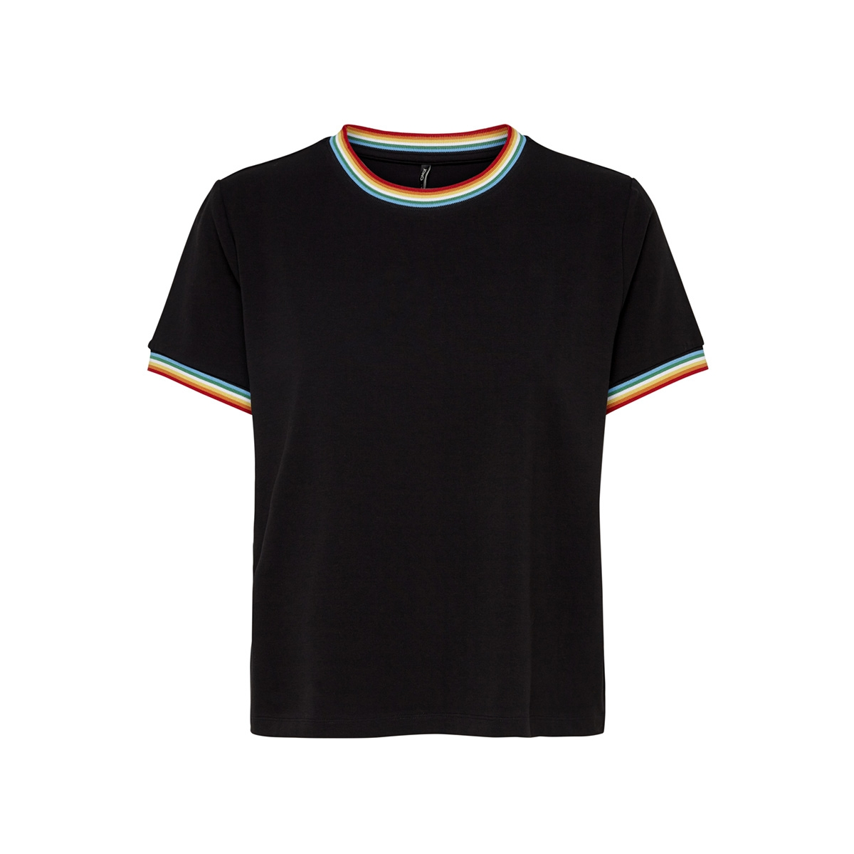onlrainbow s/s o-neck top jrs 15178968 only t-shirt black/rainbow ta