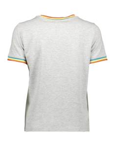 onlrainbow s/s o-neck top jrs 15178968 only t-shirt light grey mela/rainbow ta