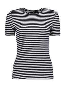 Only T-shirt ONLBELLA S/S REG TOP JRS 15178077 Cloud Dancer/NIGHT SKY