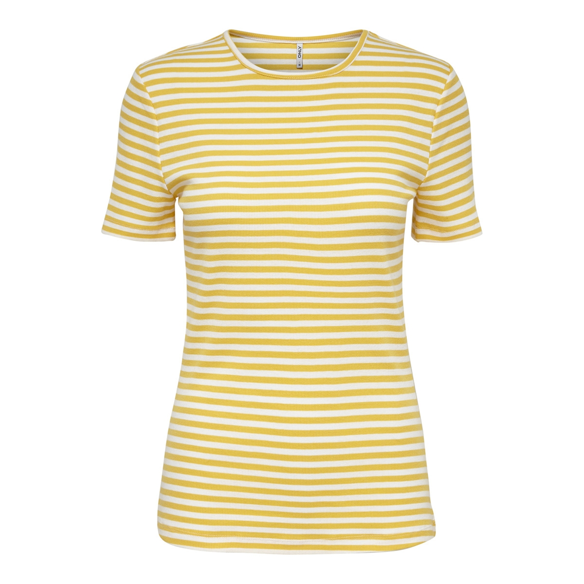 onlbella s/s reg top jrs 15178077 only t-shirt cloud dancer/yolk yellow