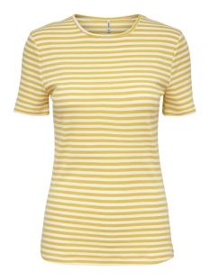 Only T-shirt ONLBELLA S/S REG TOP JRS 15178077 Cloud Dancer/YOLK YELLOW
