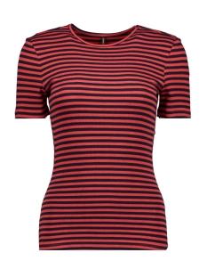 Only T-shirt ONLBELLA S/S REG TOP JRS 15178077 Night Sky/HIGH RISK RED