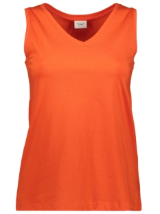 Jacqueline de Yong Top JDYMOLLY S/L V-NECK TOP JRS 15174646 Orange Com