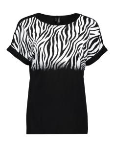 vmsiri s/s animalprint blouse exp 10222439 vero moda t-shirt black/zebra snow white