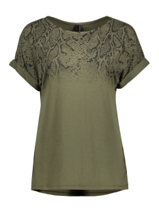 Vero Moda T-shirt VMSIRI S/S ANIMALPRINT BLOUSE EXP 10222439 Ivy Green/SNAKE