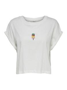 jdymolly s/s print cropped top jrs 15174643 jacqueline de yong t-shirt cloud dancer/popsicle