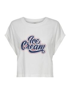jdymolly s/s print cropped top jrs 15174643 jacqueline de yong t-shirt cloud dancer/ice cream