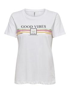 onlvibs fit s/s print top box co jr 15179513 only t-shirt bright white