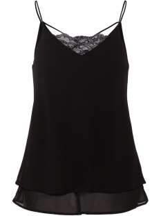 Pieces Top PCKAYSA LACE SLIP TOP NOOS 17093678 Black