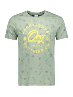 Jack & Jones T-shirt JORPALMOS TEE SS CREW NECK 12153062 Green Bay