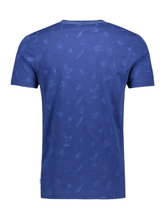 jorpalmos tee ss crew neck 12153062 jack & jones t-shirt blue depths