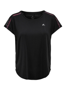 Only Play Sport shirt ONPCALEXIA LOOSE TRAINING SS TEE 15165446 Black/W. BLACK