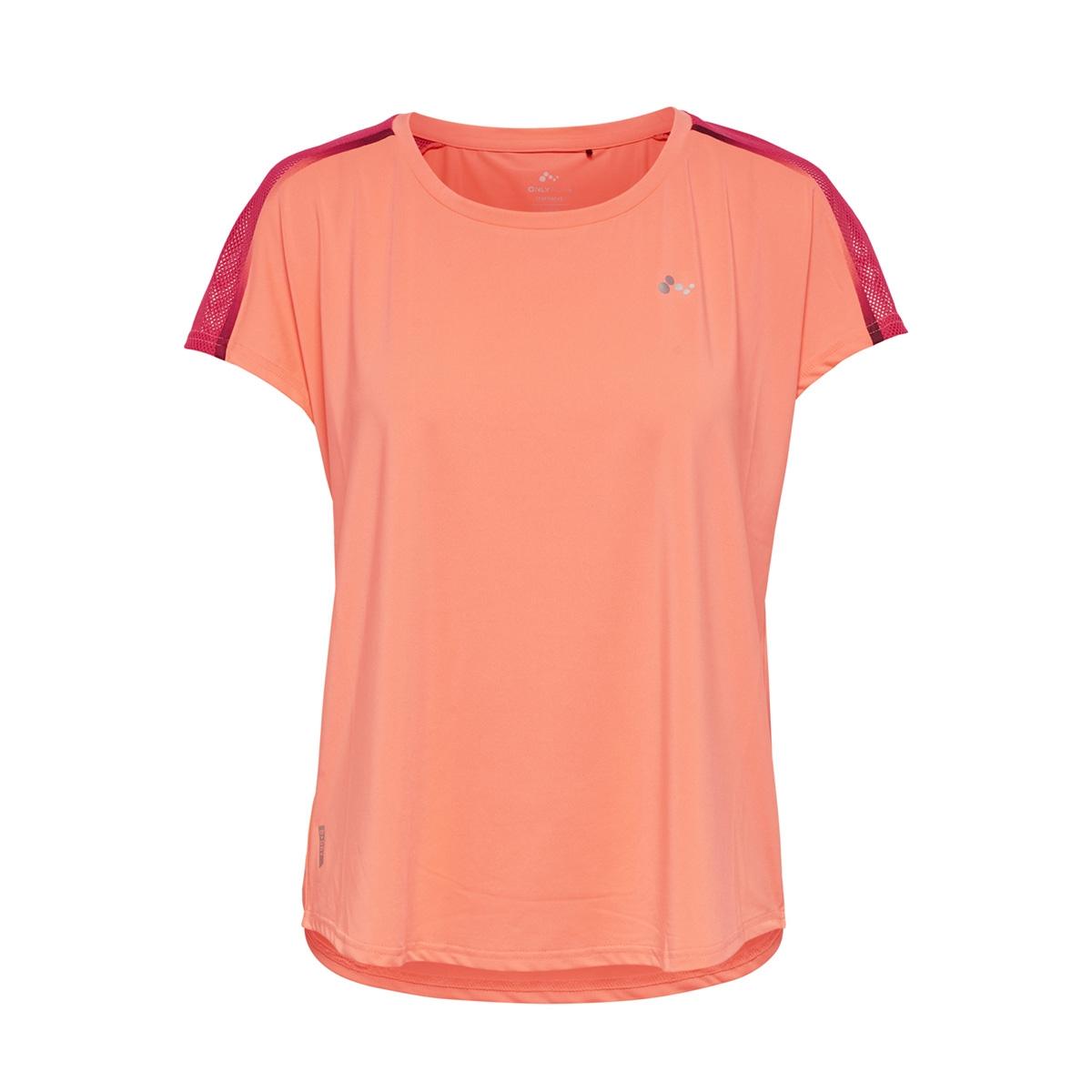 onpcalexia loose training ss tee 15165446 only play sport shirt neon orange/w. paradis