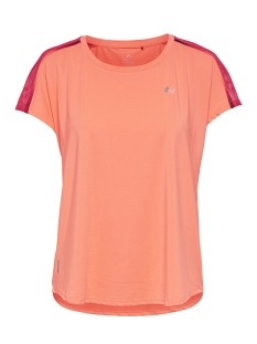 Only Play Sport shirt ONPCALEXIA LOOSE TRAINING SS TEE 15165446 Neon Orange/W. PARADIS