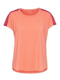 Only Play Sport shirt ONPCALEXIA LOOSE TRAINING SS TEE 15165446 Neon Orange/W. PARADIS