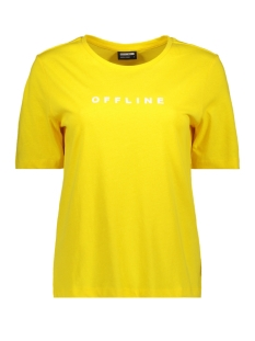 Noisy may T-shirt NMOFFLINE S/S TEE SSX3 27007319 Dandelion/OFFLINE